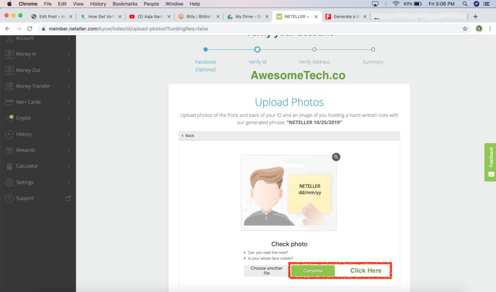Neteller Account Verification Process