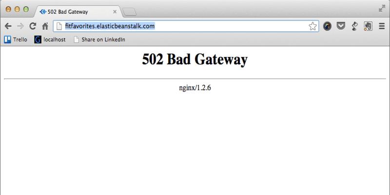 502 bad gateway error fixing