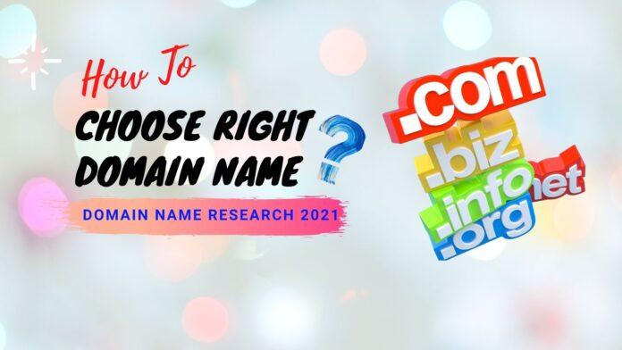 Choose Right Domain Name